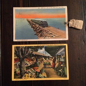 Hollywood & Salt Lake Vintage Postcards